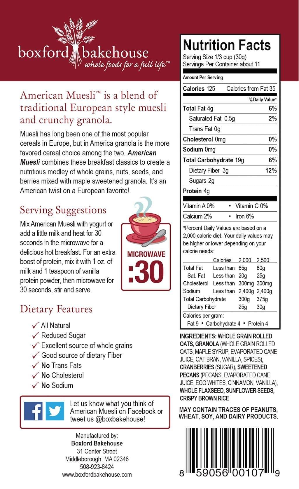 Cranberry Pecan American Muesli