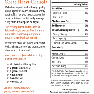 Maple Crunch Nutritional Facts